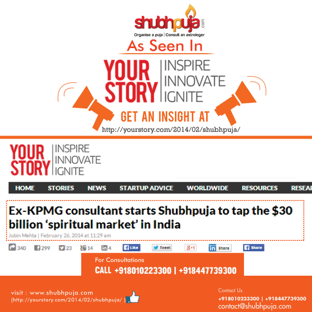 YOURSTORY.com writing for Shubhpuja.com