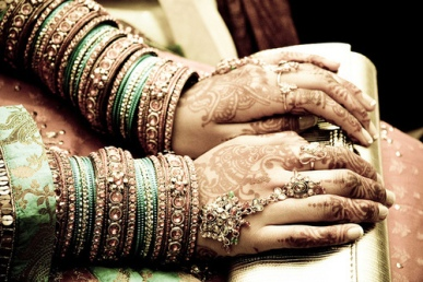 women wearing bangles