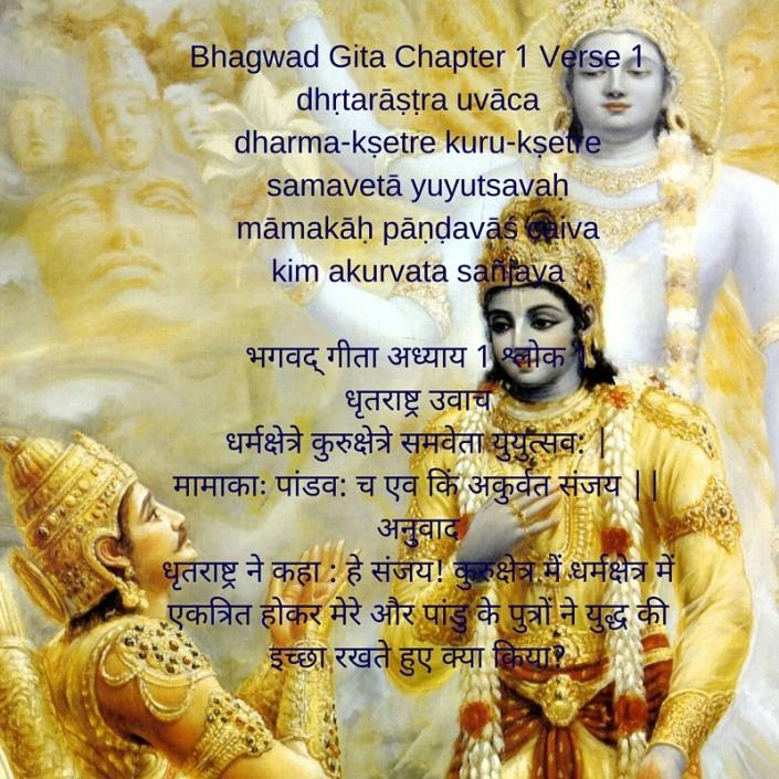 dhṛtarāṣṭra uvācadharma-kṣetre kuru-kṣetresamavetā yuyutsavaḥmāmakāḥ pāṇḍavāś caivakim akurvata sañjayaQ=&t=r={!M Wv==c=Q=m=-Z=eF=e ku-oZ=eF=e s=m=v=et== y=uy=uts=v=- +m==m=k-=- p==[#v==xc=Ev= ik-m=- aku-v=-t= s=]j=y=