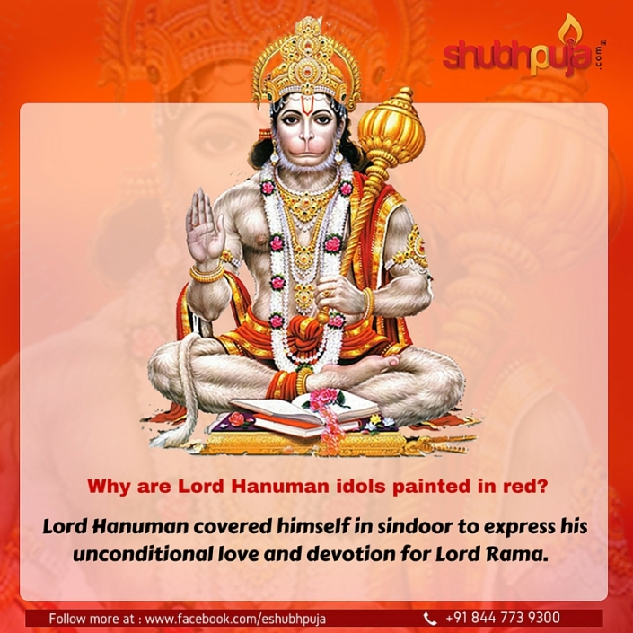 Hanuman ji sindoor story