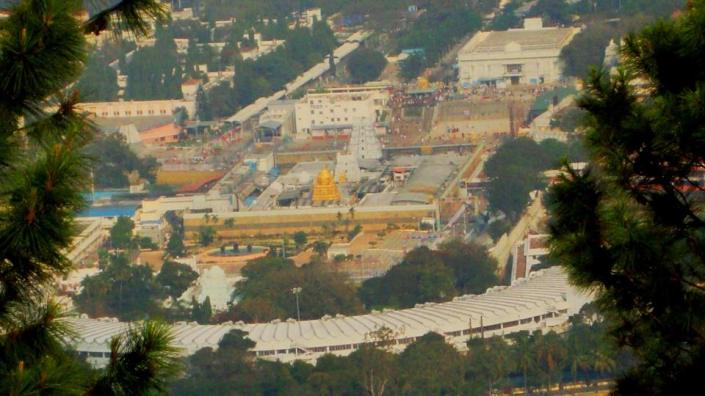 Tirupati Temple an ariel view