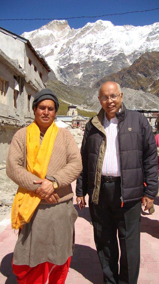 With one of the Pandas Vinod Tiwari