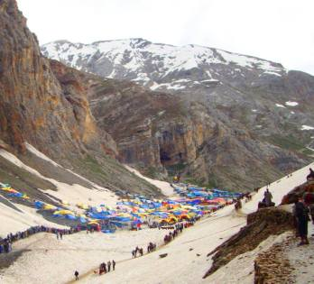 Amarnath CAve from a distance