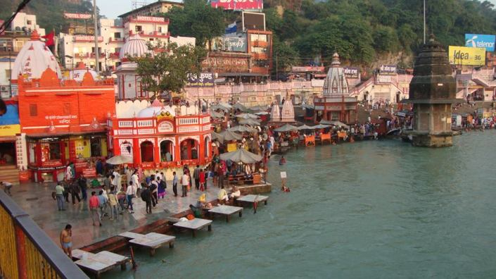 Har Ki Pawri in the afternoon