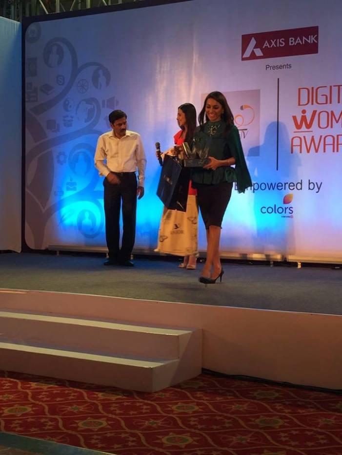 shubhpuja awarded by shethepeople tv