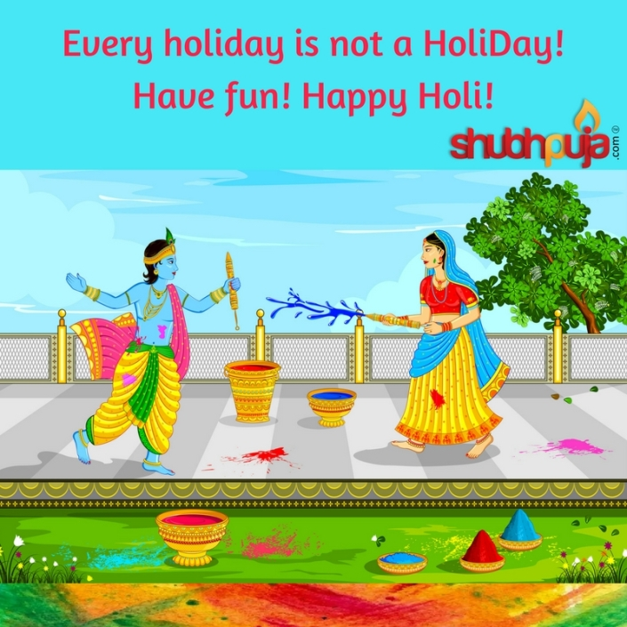 Happy Holi 2018 by shubhpuja.com