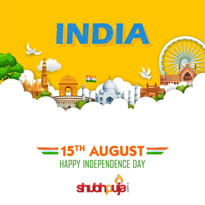 Happy Independence Day by Shubhpuja.com