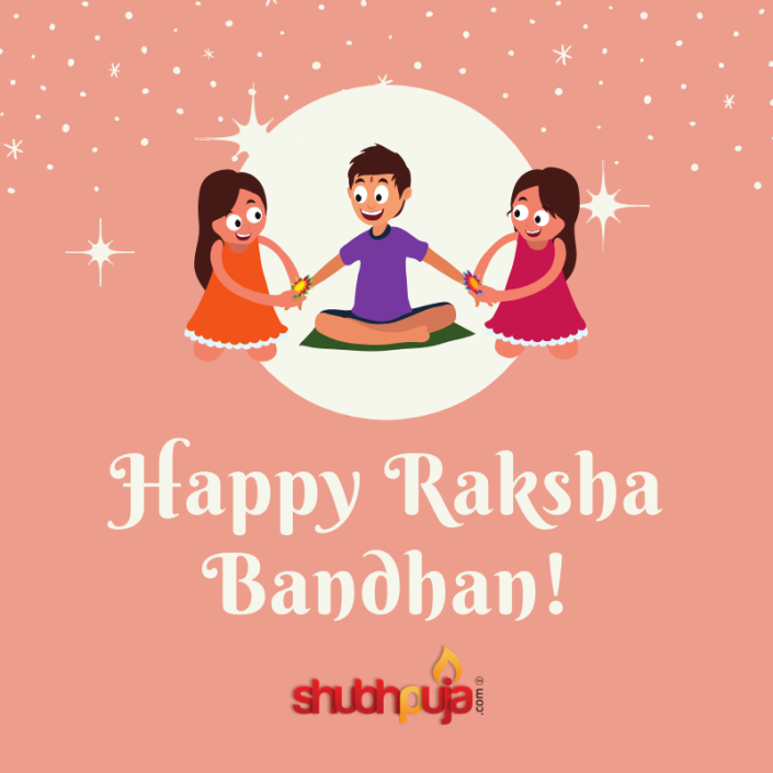 Happy Raksha Bandhan by Shubhpuja.com